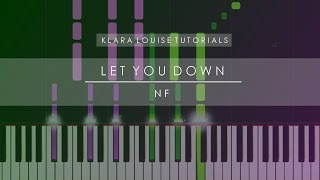 LET YOU DOWN | NF Piano Tutorial