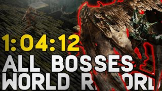 WORLD RECORD Dark Souls All Bosses Speedrun in 1:04:12