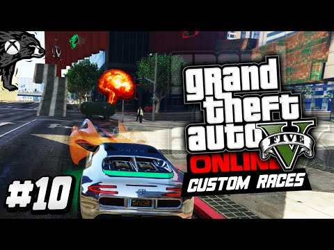 """GTA 5 Online Xbox One   """"Super Two Way Wall!""""   Cotorreo - Custom Races! #11"""
