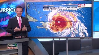 Hurricane Irma taking aim at Florida, possibly Carolinas   Thursday 5AM update with Greg Dee