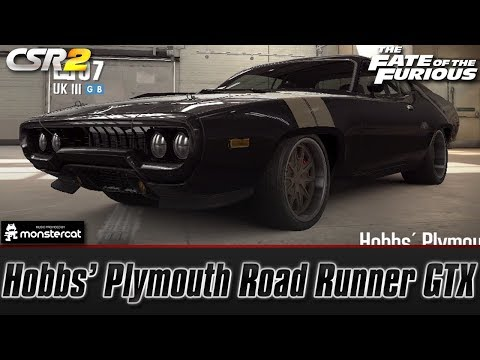 CSR Racing 2: Hobbs' Plymouth Road Runner GTX | The Fate of the Furious [Hobbs' Mission]