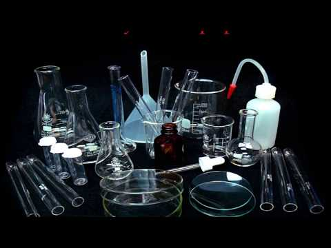 Chemistry LAB Equipments all glass wares with name (part1)