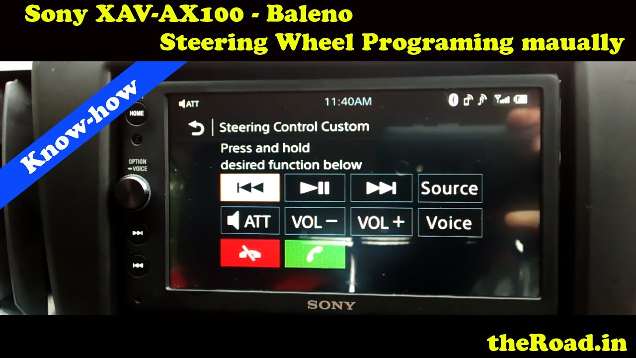 Sony XAV-AX100 Steering Buttons functions assigning | Baleno