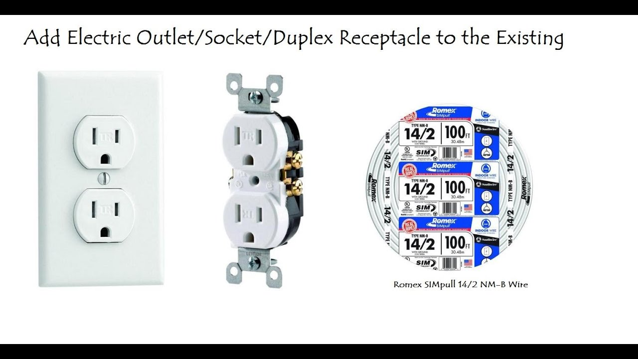 Add Electric Outlet/Socket/Duplex Receptacle to the Existing Circuit ...