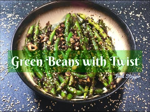 Green Beans with Twist   Peanut Butter Recipe   Green Bean Recipe   Easy Appetizers