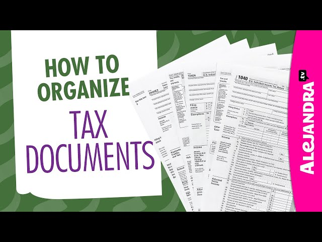 How to Organize Tax Documents, Paperwork, & Receipts (Part 7 of 10 Paper Clutter Series)