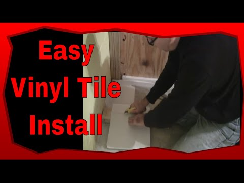How To Tile Concrete Floors With Self Adhesive Vinyl Tiles