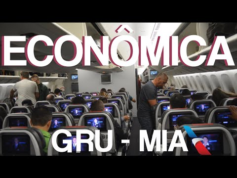 VALE A PENA? - CLASSE ECONÔMICA DA AMERICAN AIRLINES NO 777-300 De GRU Para MIA