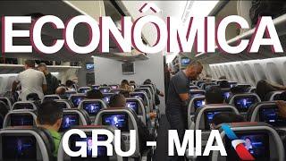 VALE A PENA? - CLASSE ECONÔMICA DA AMERICAN AIRLINES NO 777-300 - GRU para MIA