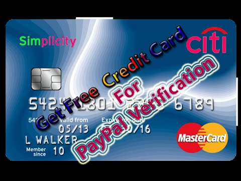 How To Get Free Virtual Credit Card For Paypal Verification Youtube