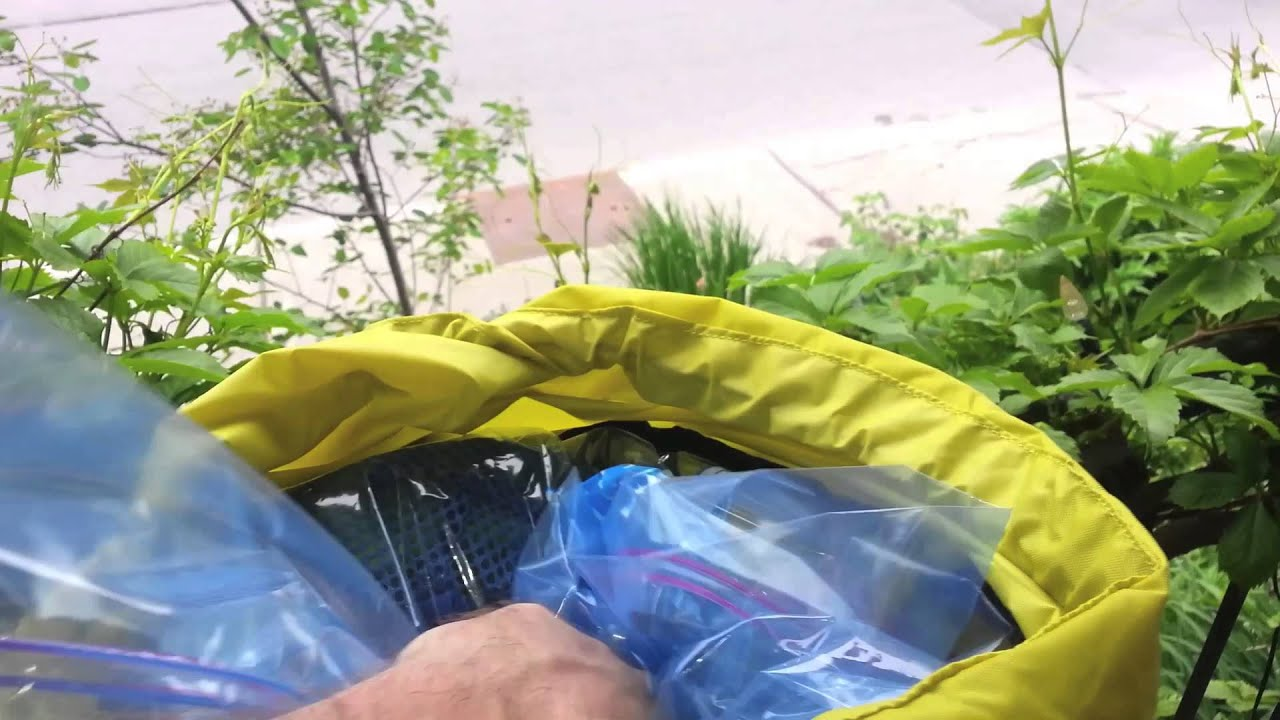 Camping Hack - Frugal Backpack Waterproofing - YouTube