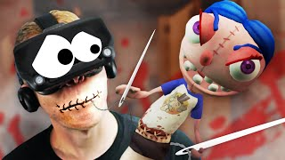 HELP! THIS DEMON PUPPET SEWED MY MOUTH SHUT in VR!!?! Hello Puppets! VR Oculus Quest Link