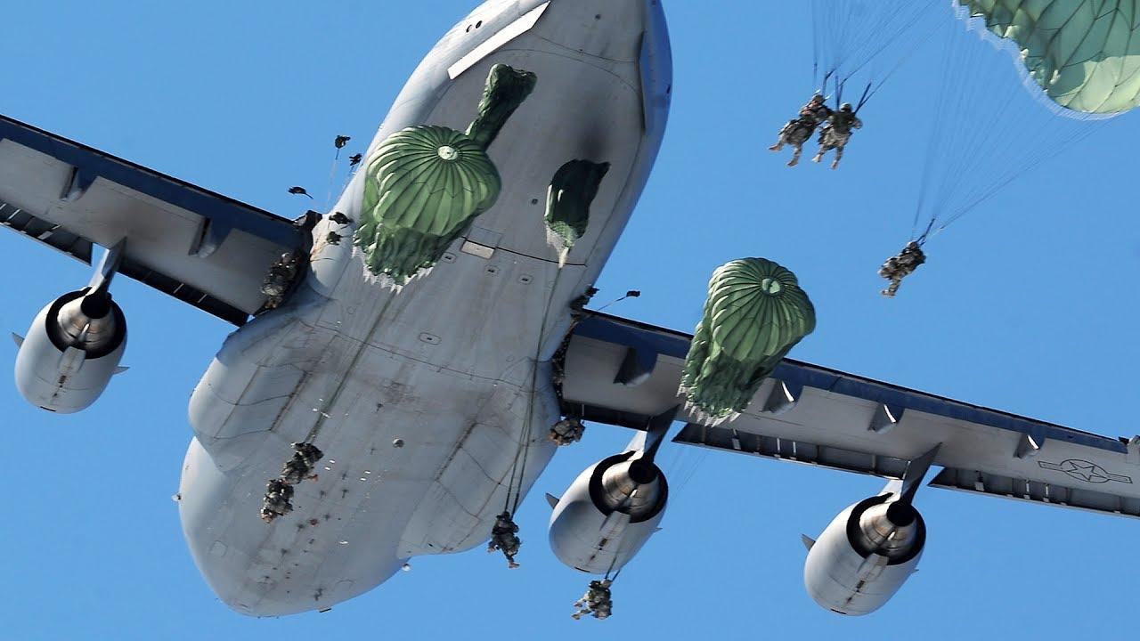 MASSIVE Static Line Jump From C-17 Globemaster