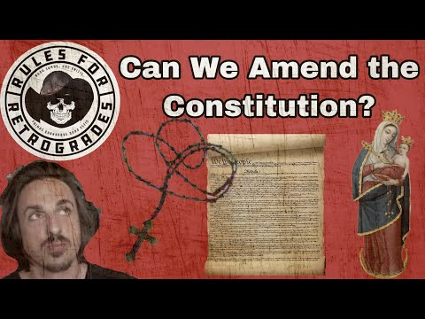 Can We Amend the Constitution