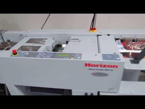 Horizon HOF-20 High-Speed Feeder SPF/FC-20 Booklet Maker