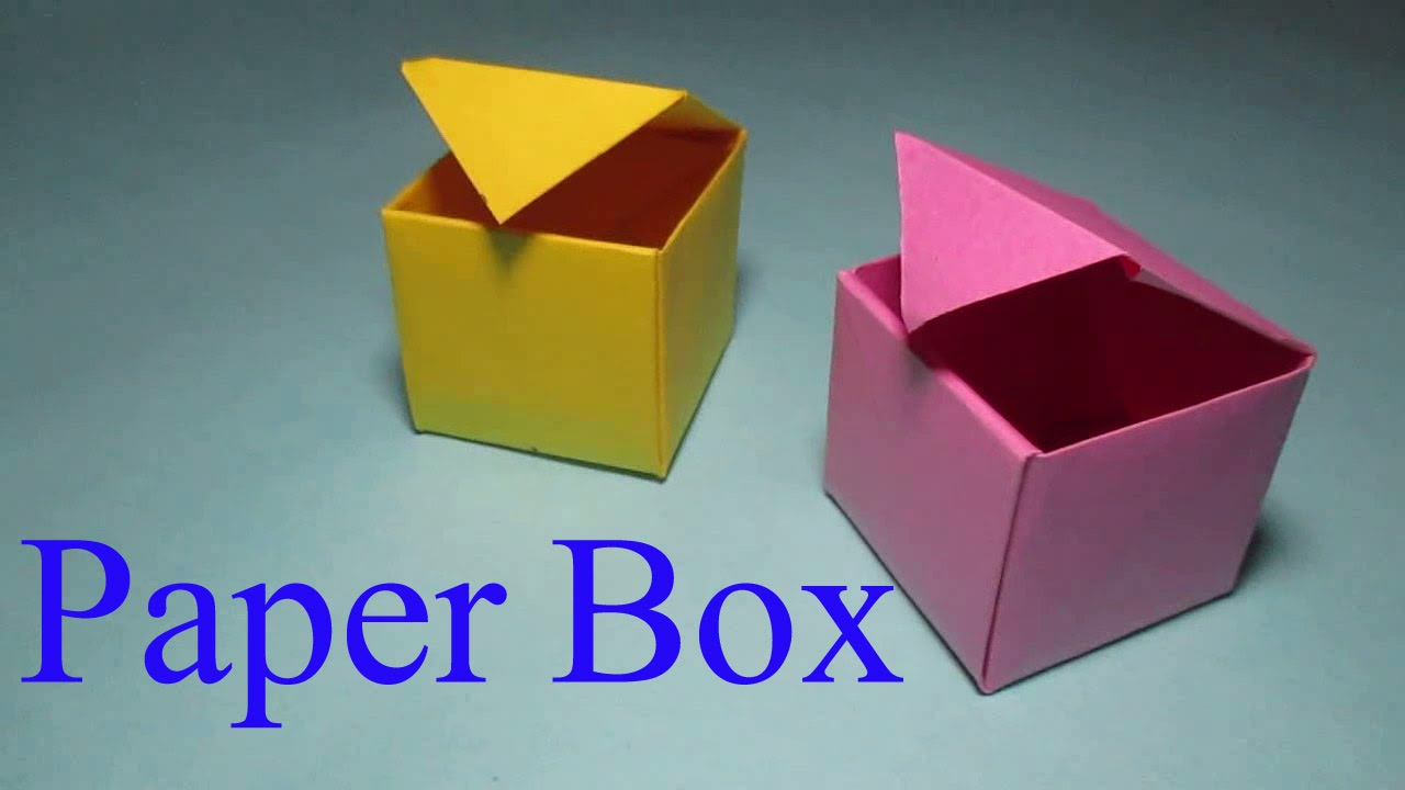 paper box how to make a box from paper that opens and