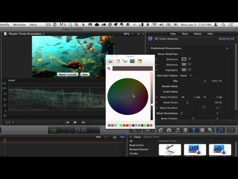 Ripple Tools Color Balance effect tips