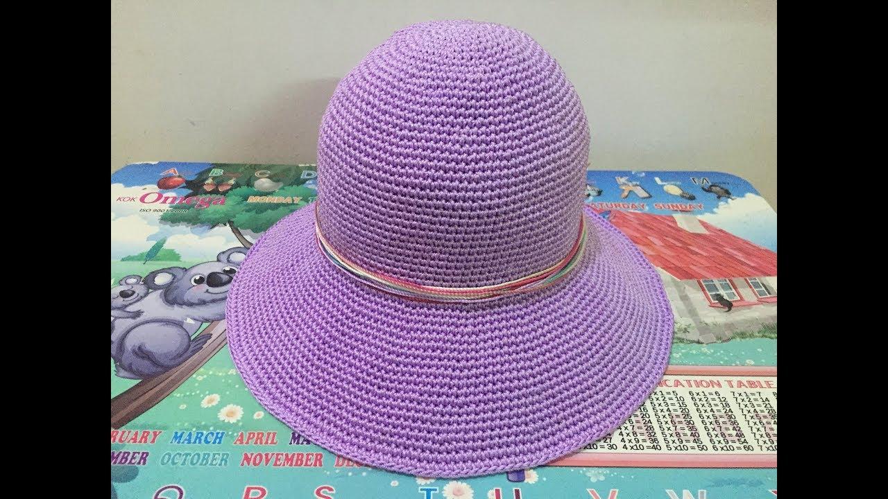 Hướng dẫn móc nón rộng vành (vành cụp) – PHẦN 2/ Crochet hat tutorial