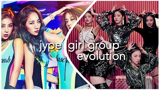 JYPE GIRL GROUP EVOLUTION (2007-2019)