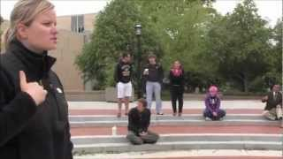 College Girl Challanges Street Preacher