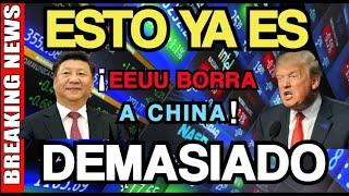CHINA Se CANSO y ADVIERTE  a EEUU de Obligarle a Abandonar las BOLSAS gringas