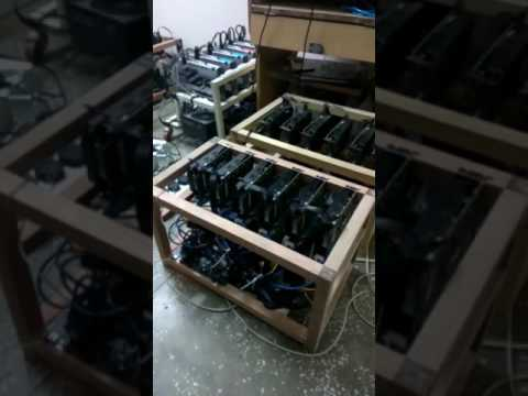 Bitcoin Ethereum Crypto Currency Mining (India)rig With Asus Z 270 Mother Board