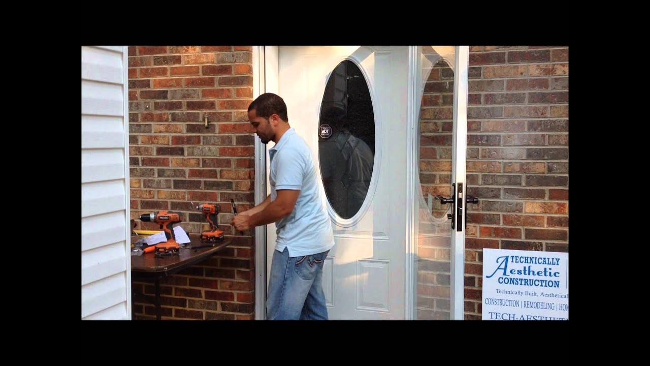 Installing a fullview Andersen Emco Storm Door Part 3 - YouTube