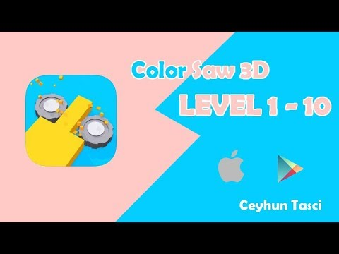 Color saw 3d level 1 2 3 4 5 6 7 8 9 10