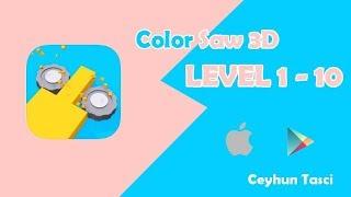 Color saw 3d level 1 2 3 4 5 6 7 8 9 10