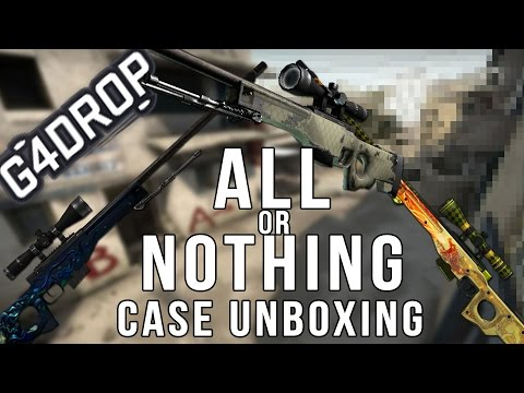 All or Nothing Case Unboxing! AWP Dragonlore, Medusa or Safari Mesh!
