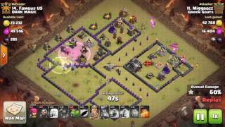 Clash of Clans TH9 HPBB Mass Baby Dragon HPBBD 3 STAR ATTACK