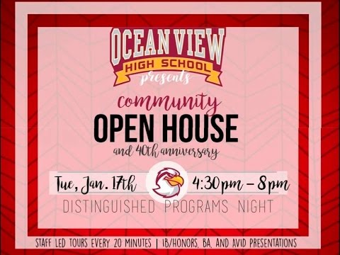 Ocean View High School Community Open House 2017