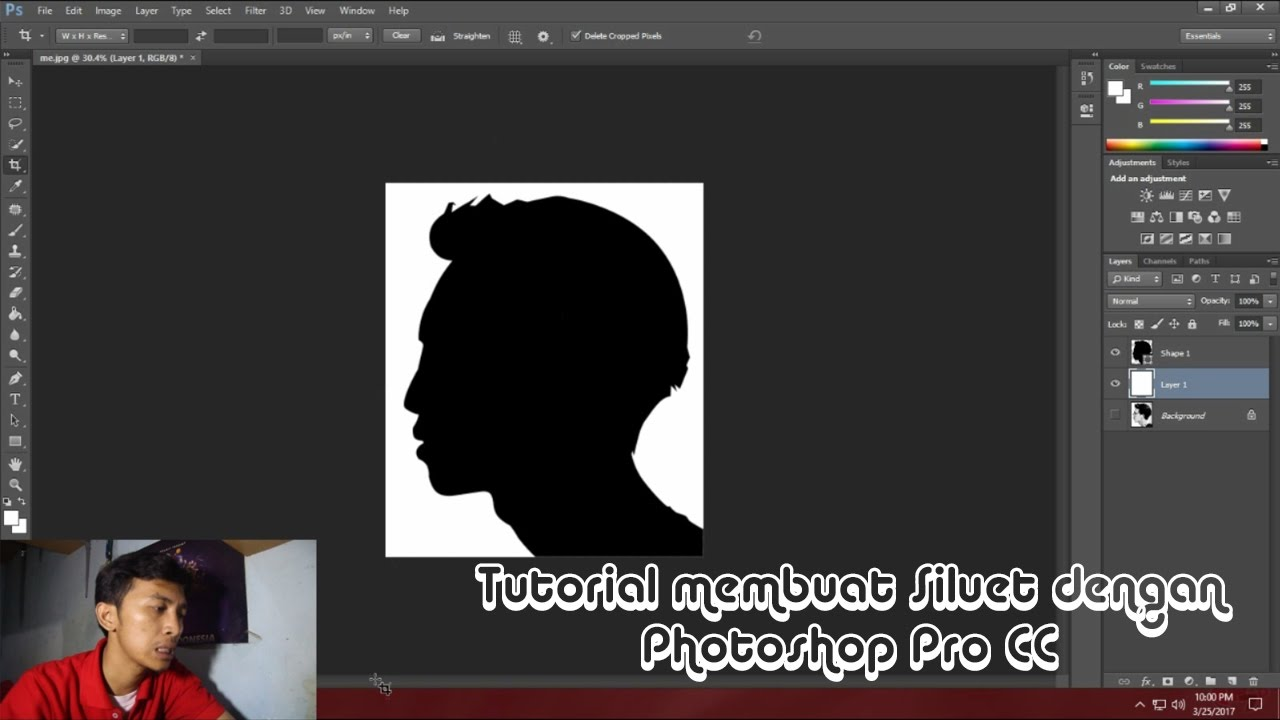 Download Tutorial membuat siluet dengan Photoshop Pro CC (F7p)