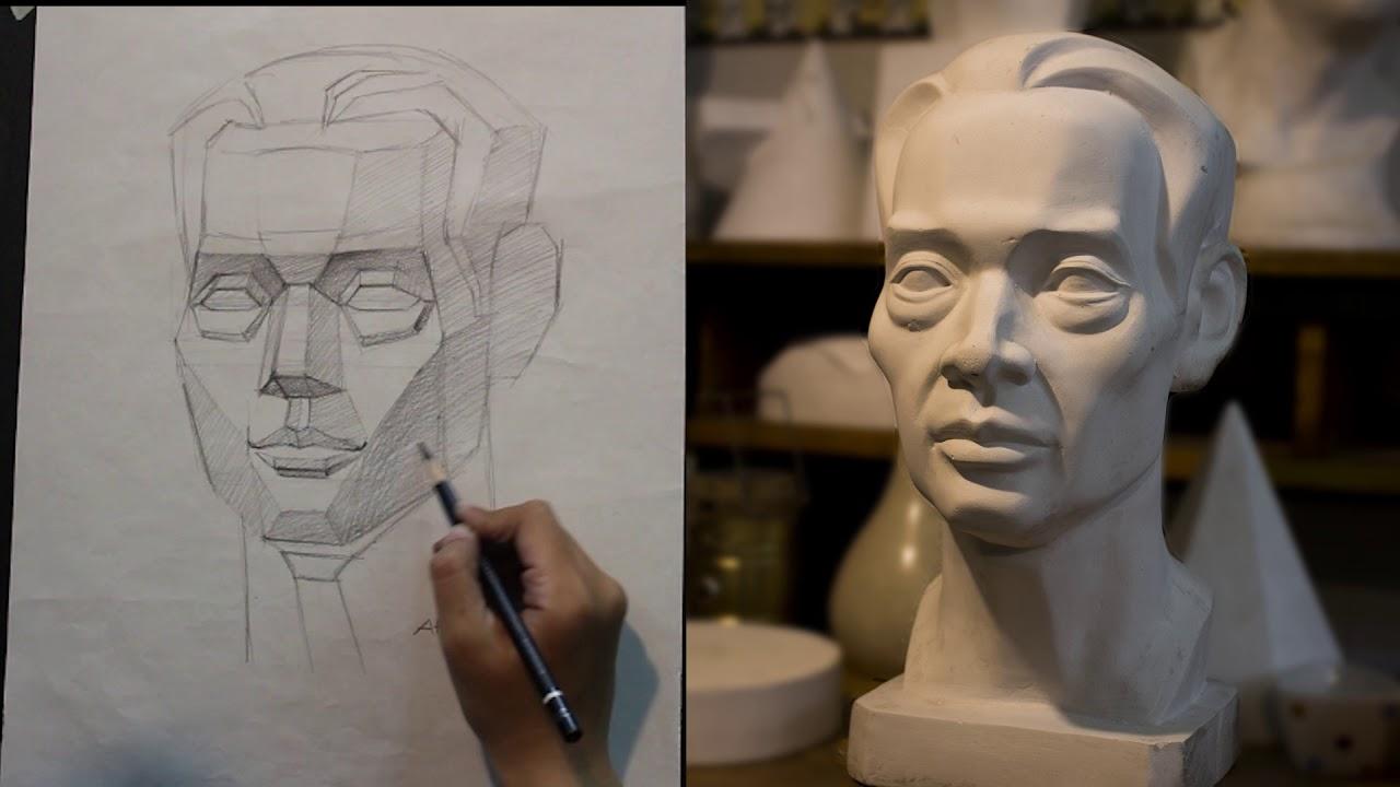Vẽ đầu tượng trung niên