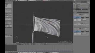 Blender 2.6. Урок - Анимация флага СССР. Часть 1