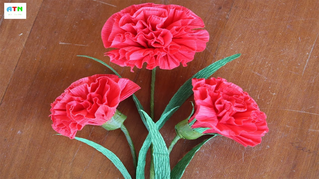 Lovely Marigold Flowers Crepe Paper Handcrafted How To Make