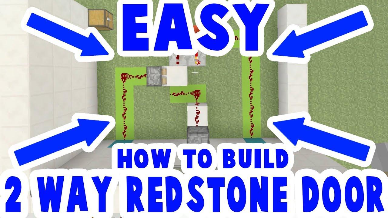 2 Way Redstone Piston Door Bridge Minecraft How To Build - 2 Way Switch Minecraft