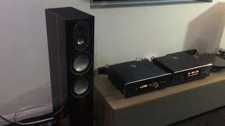 Roksan Blak Amplifier and CD player with Monitor Audio Gold 200