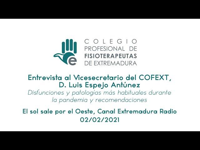 Entrevista al Vicesecretario del COFEXT, Luis Espejo - Disfunciones y patologías durante la pandemia