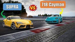 2020 Toyota Supra vs Porsche 718 Cayman   Past & Present Detailed Comparison   0-60   Horsepower