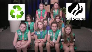 A Message on Recycling from Girl Scout Troop 65243: June 2016