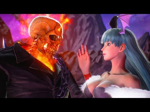 Morrigan attempts to Seduce Ghost Rider | Marvel vs Capcom: Infinite
