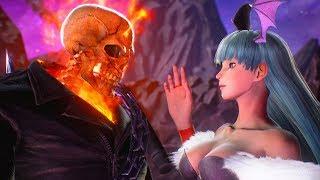 Morrigan attempts to Seduce Ghost Rider   Marvel vs Capcom: Infinite