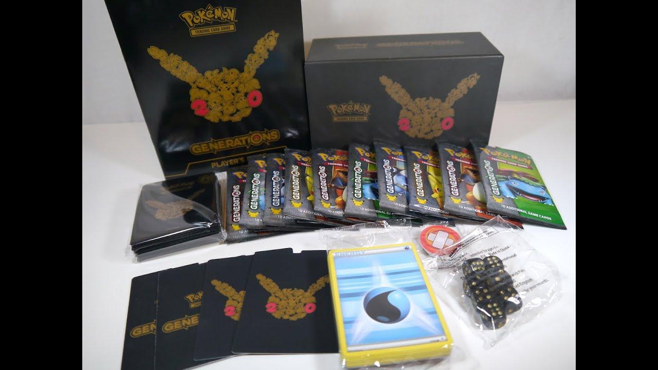 Opening A Generations Elite Trainer Box Pok 233 Mon Tcg Youtube