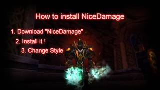 World of Warcraft - AddOn NiceDamage and Font - How to
