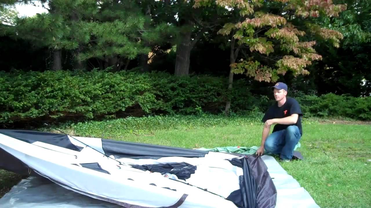 & How to set up a 6 man tent - YouTube