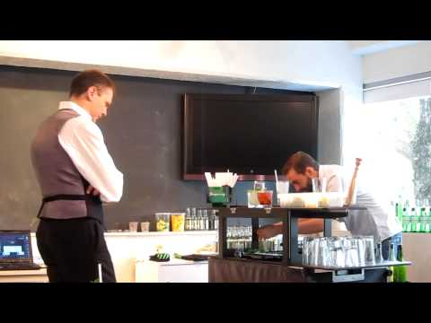 Nathan Gerdes at Angus Winchester's challenge/ Portland Cocktail Week, #2