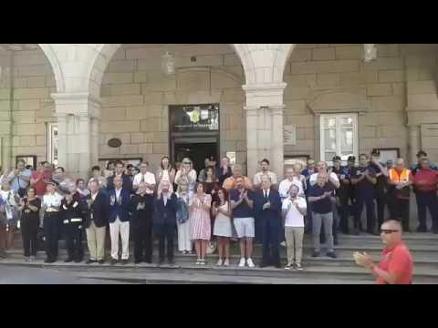 Ourense guarda silencia en recuerdo de las víctimas del atentado de Barcelona