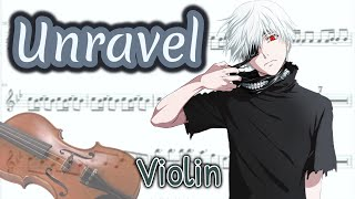 Video Unravel - Tokyo Ghoul Opening Full (Violin) download MP3, 3GP, MP4, WEBM, AVI, FLV Agustus 2018