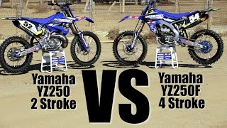 Yamaha YZ250 2 Stroke versus Yamaha YZ250F - Motocross Action